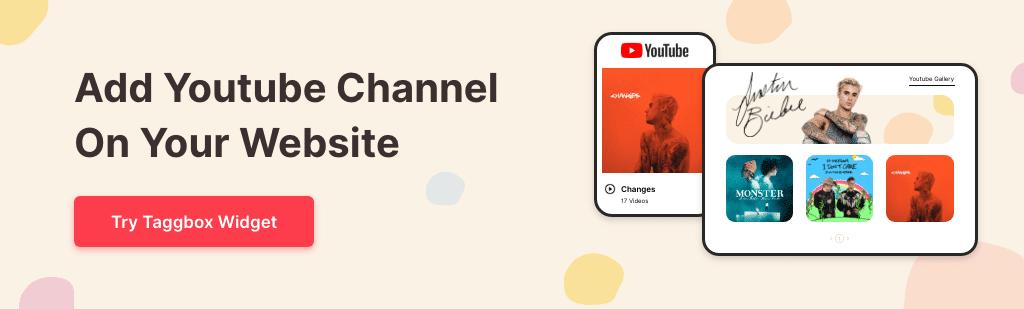 youtube channel on website