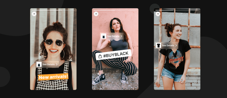 Shoppable stories Instagram