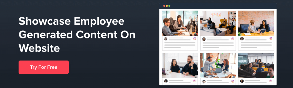 employee generated content on website