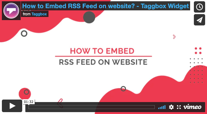 how to add rss feed to website
