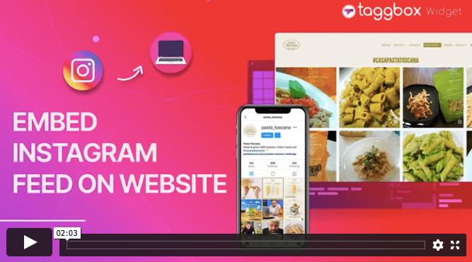 Add Instagram feed on Website