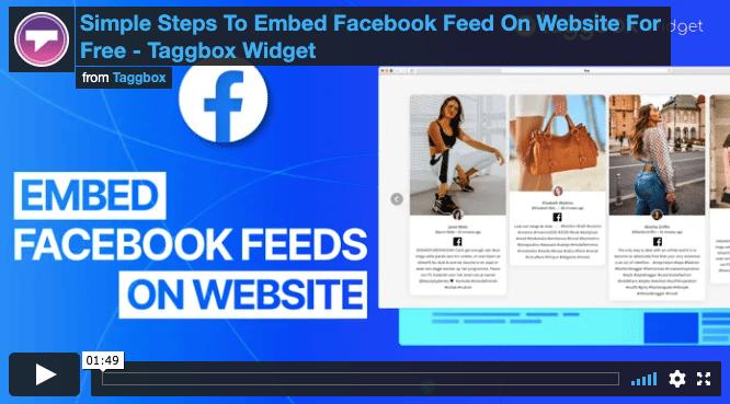 facebook feed embed code