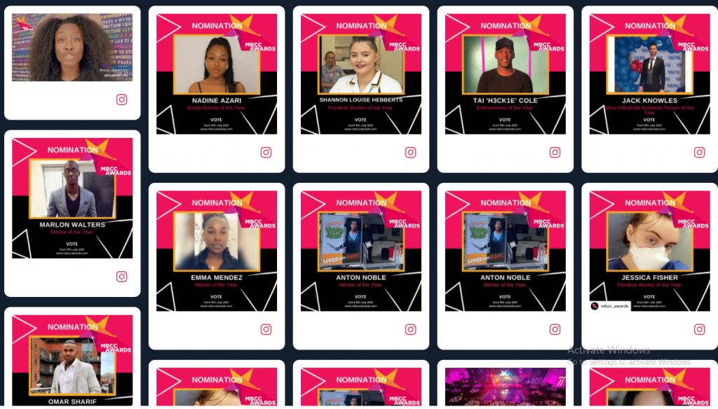 Virtual Award Social wall