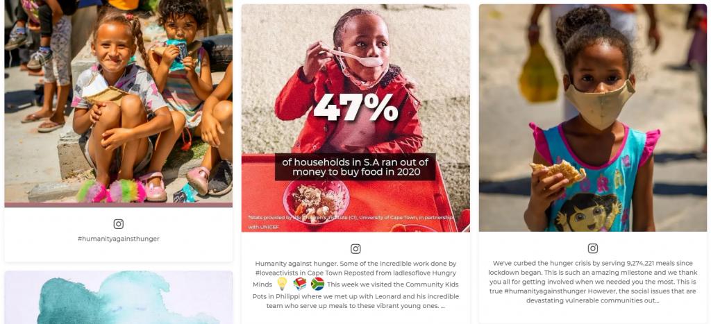 virtual fundraising social wall