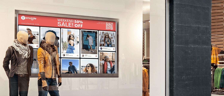 Retail Store Digital Signage