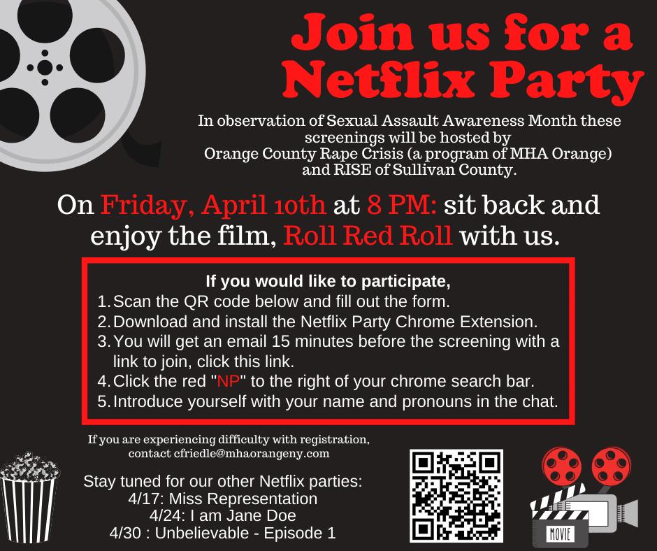 virtual fundraising movie night