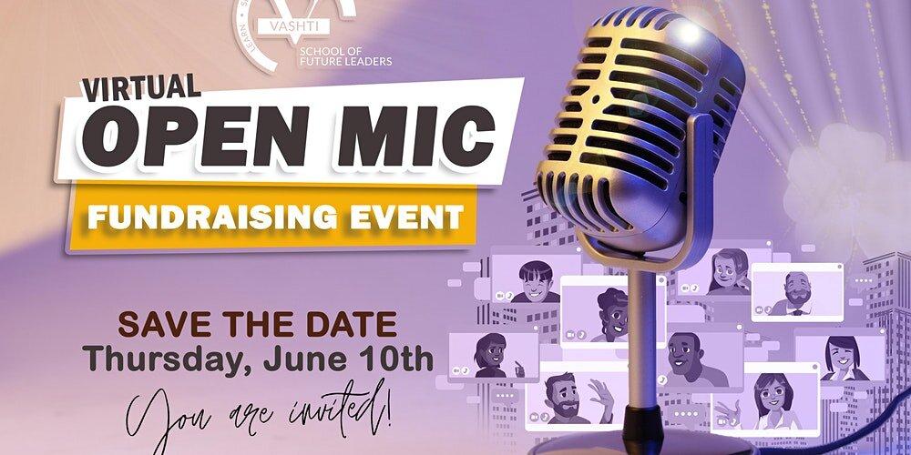 virtual fundraising open mic