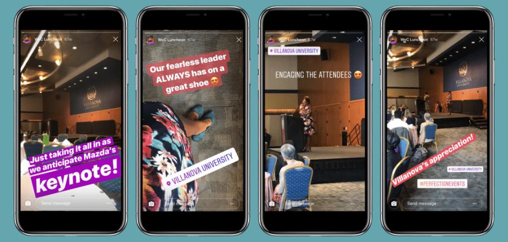 Social Media Event Stories