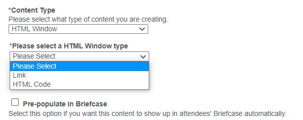 HTML Window Type