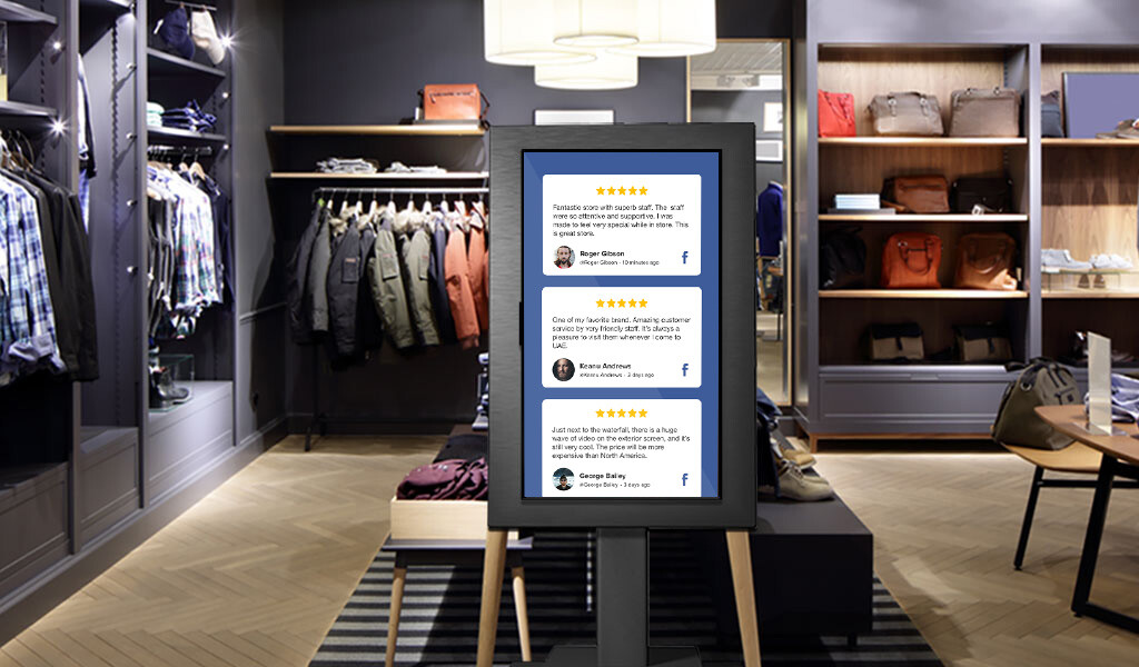 Customer Reviews on digital signage