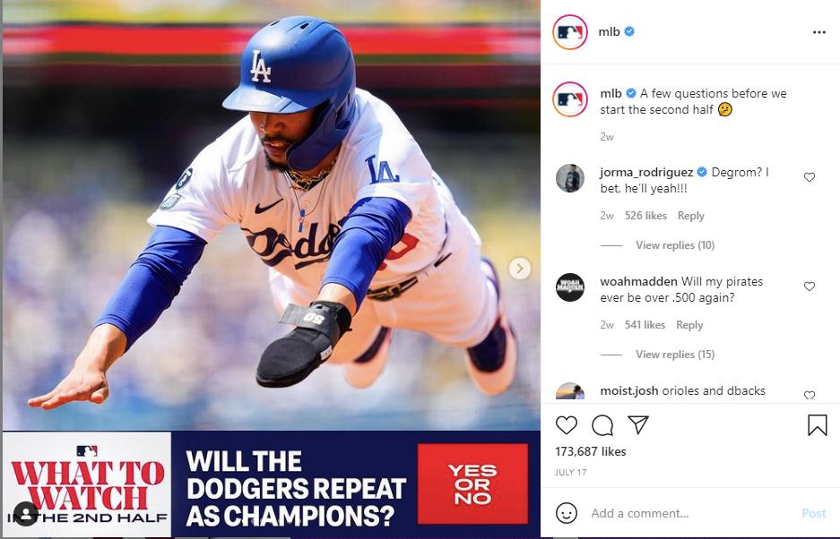 baseball instagram post