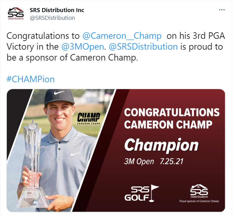 golf twitter post