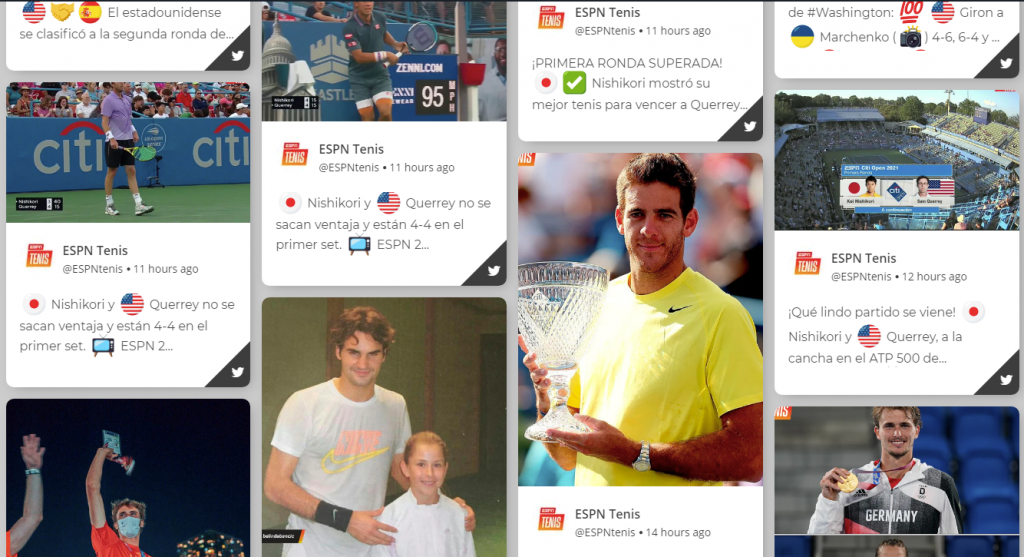 Social Wall for Sports Events Example