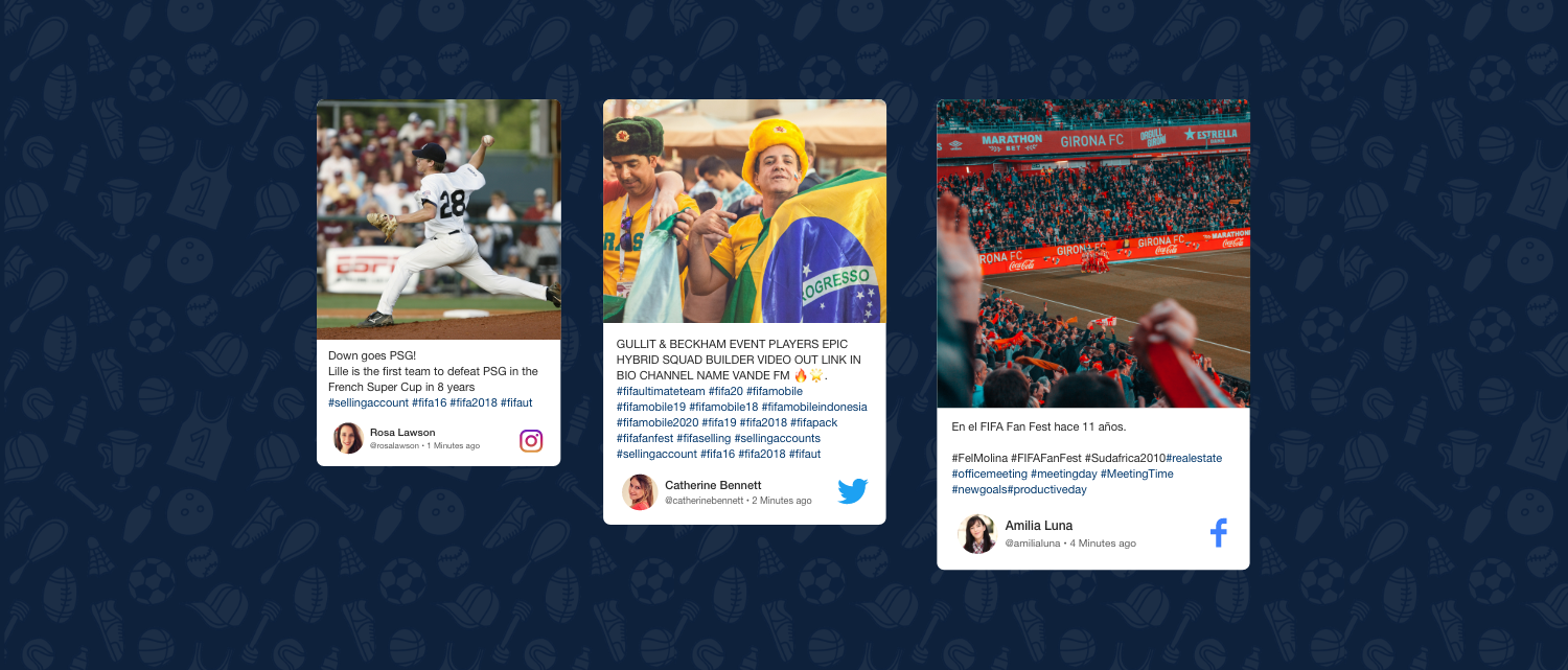Social wall Sports Event