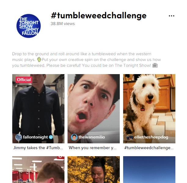#TumbleweedChallenge on tik tok