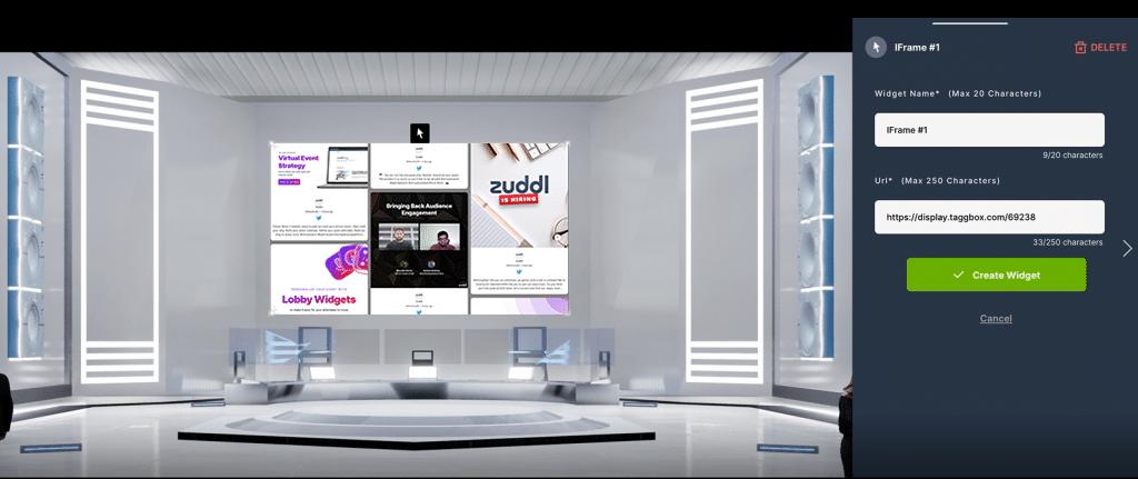 Taggbox Display Social wall in Zuddl