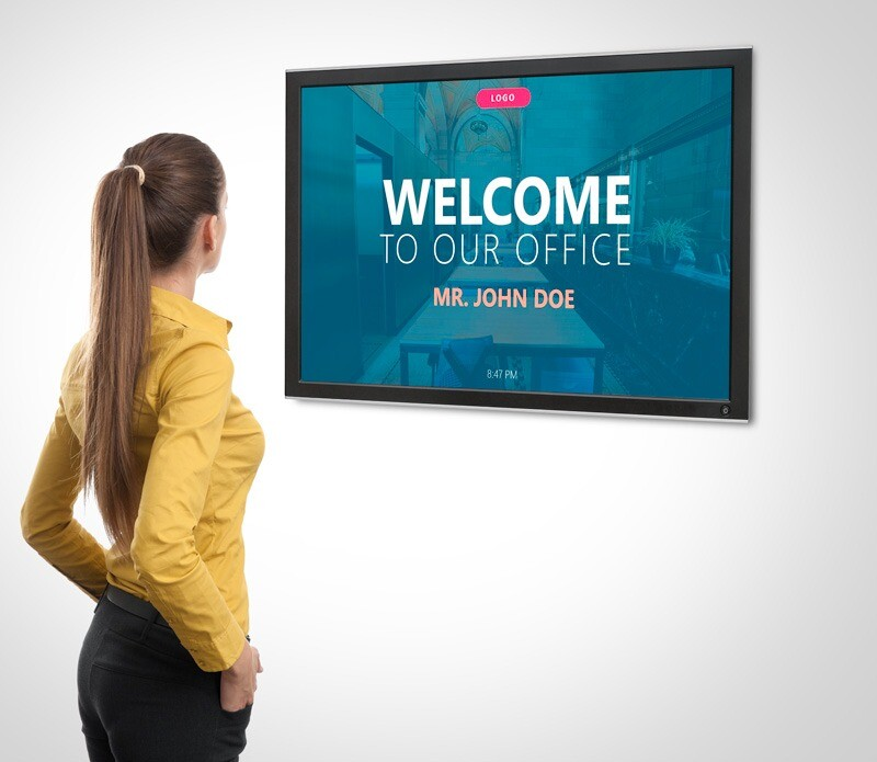 digital signage employee welcome