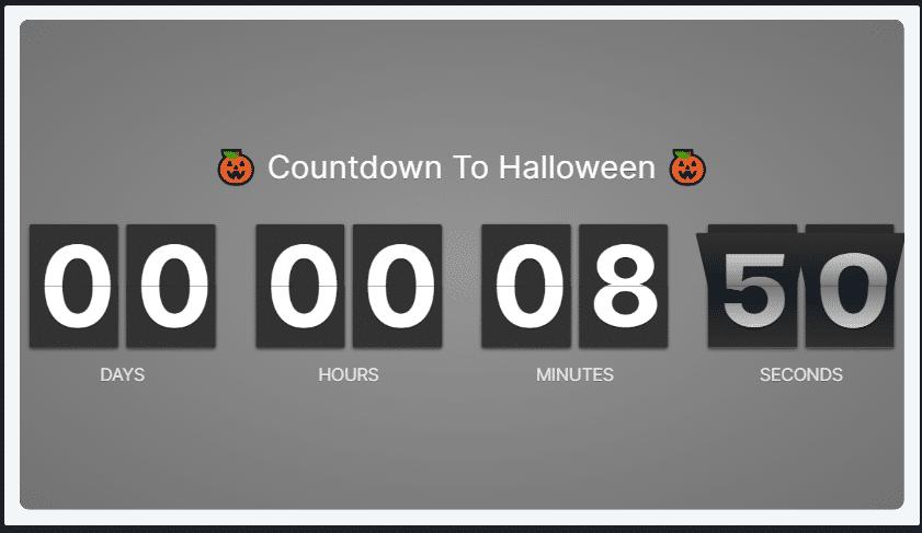 Halloween Countdown Timer