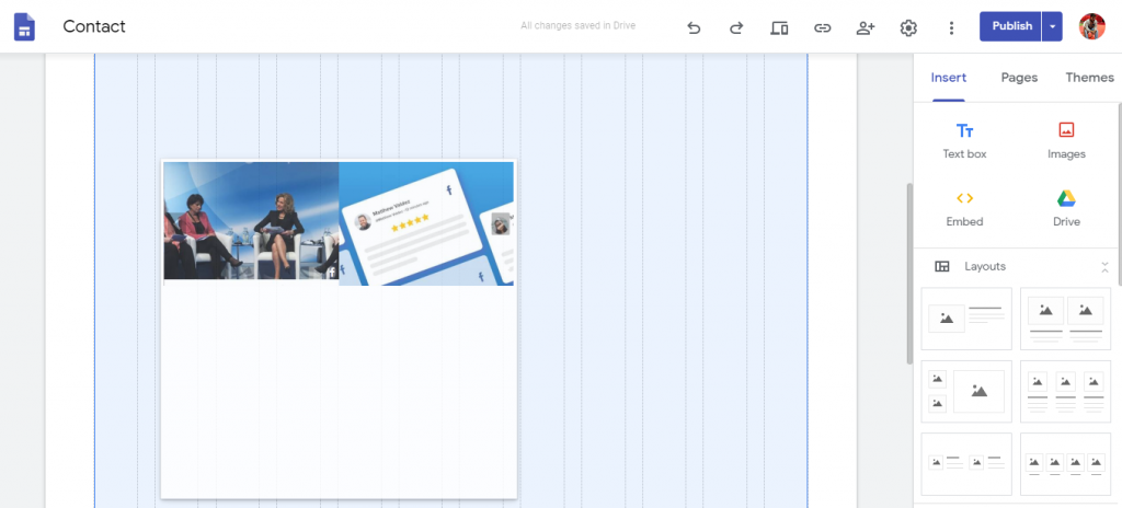 Display Facebook feed on Google site