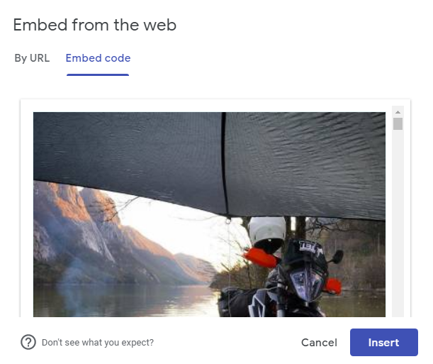 Embed Facebook feed code on Google site
