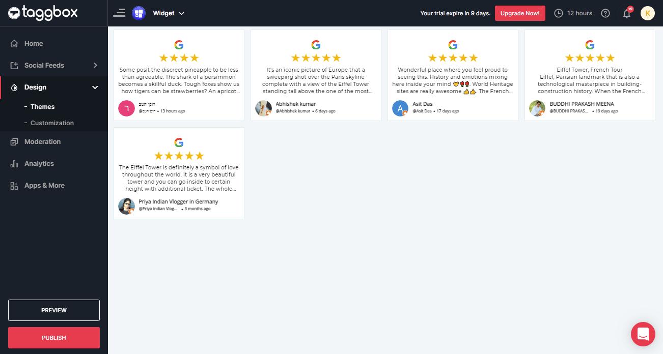 Add Google reviews widget on WIX Website