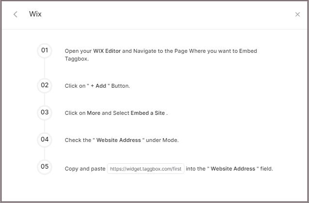 display flickr album on wix website