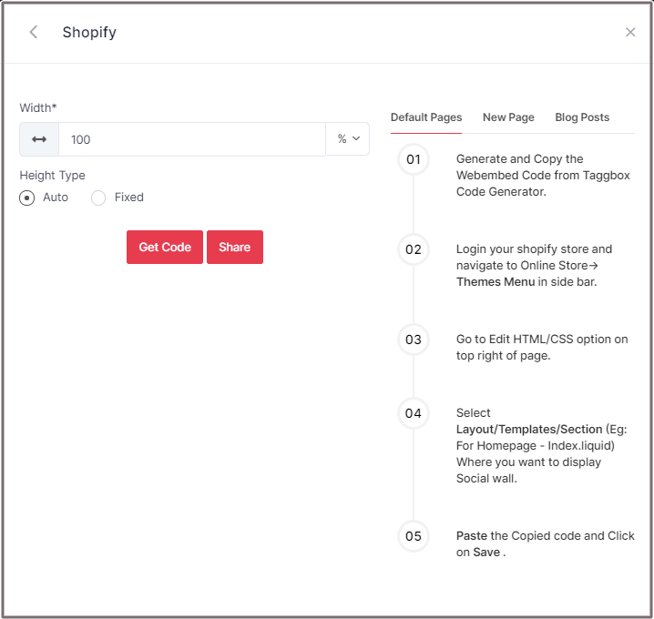 Select Height for Shopify