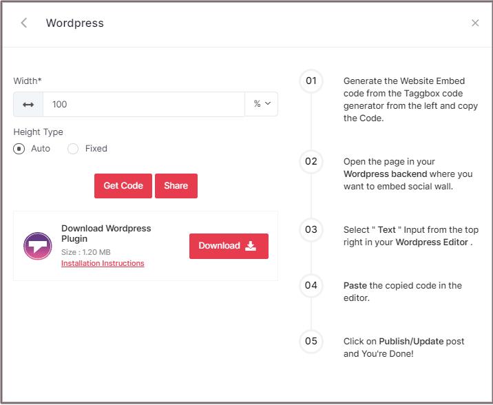 Choose Height for WordPress