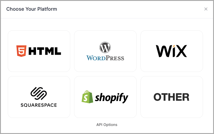 Choose your Website Type