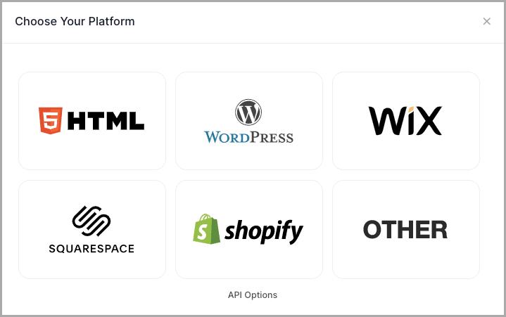 Choose embed platform WordPress