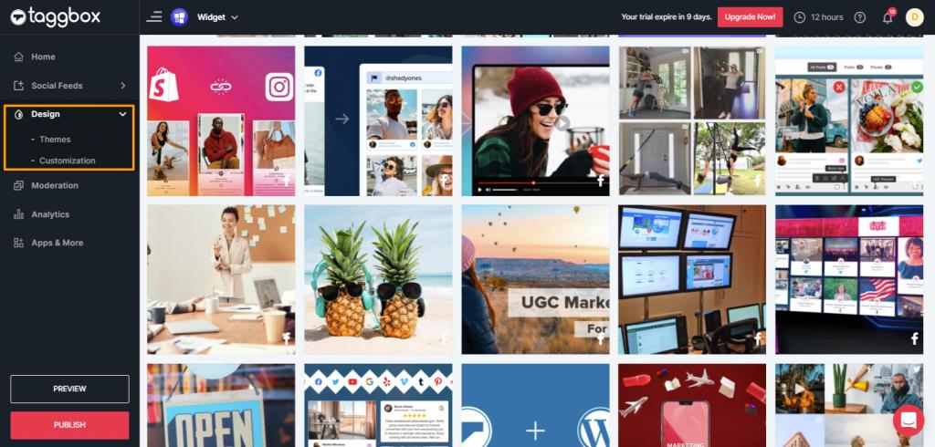 Preview Facebook Widget Wall