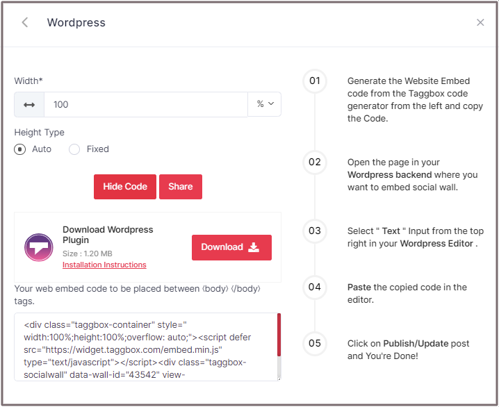 How to embed RSS feed in WordPress page