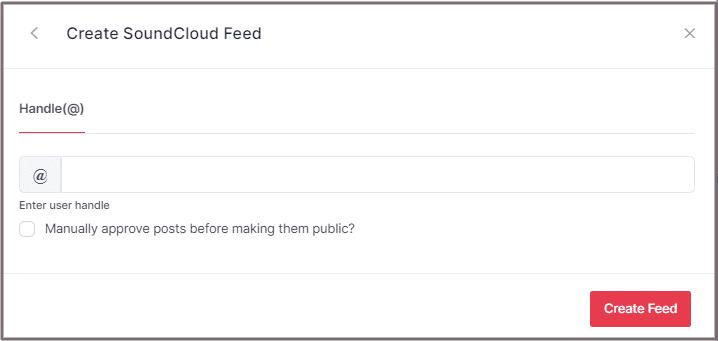Embed SoundCloud Feeds