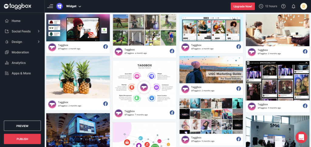 Preview Facebook Feeds Wall