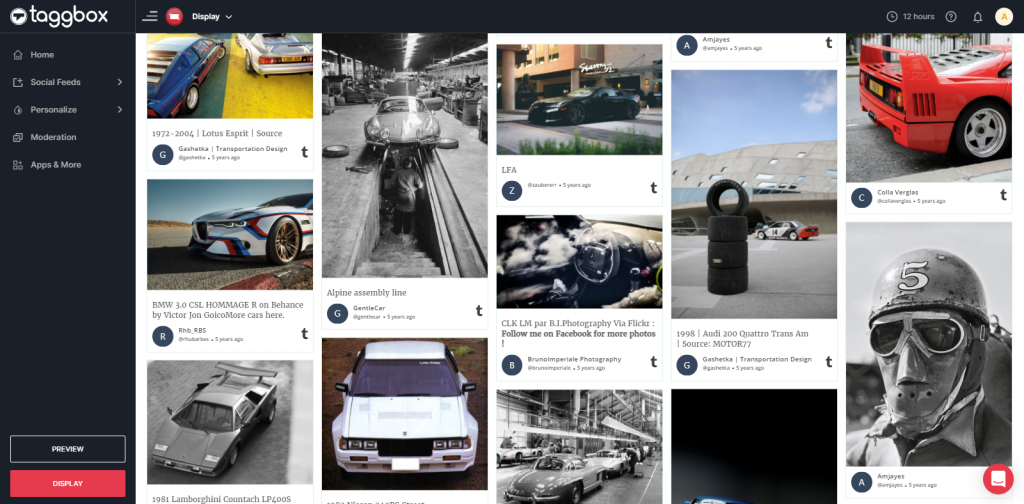 Tumbler Feed Preview