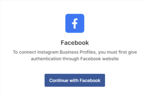 Continue with Facebook Account