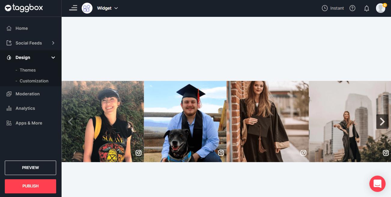 Add Instagram Slideshow Widget On Website