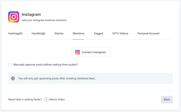 Embed Instagram Posts Using Mentions
