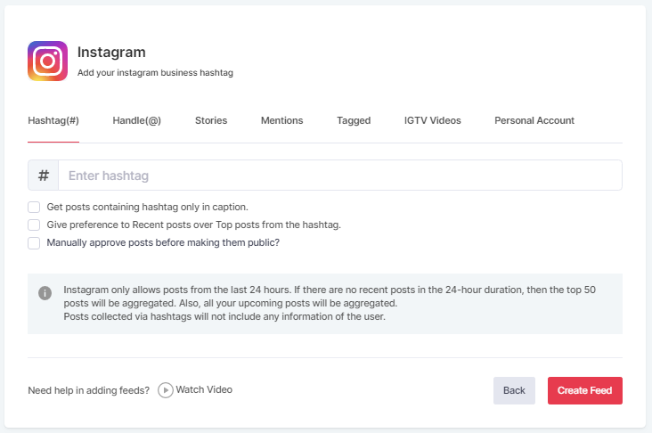Embed Instagram Posts Using Hashtag
